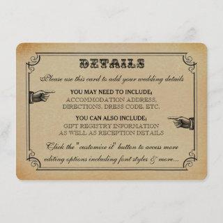 The Victorian Steampunk Wedding Collection Enclosure Card