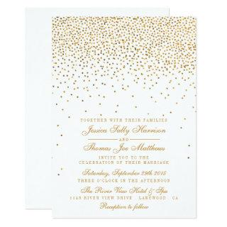 The Vintage Glam Gold Confetti Wedding Collection Invitations