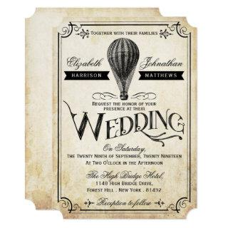 The Vintage Hot Air Balloon Wedding Collection Invitations