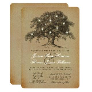 The Vintage Old Oak Tree Wedding Collection Invitations
