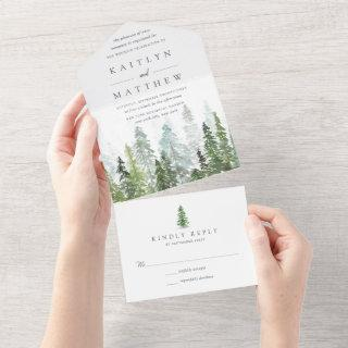 The Watercolor Pine Tree Forest Wedding Collection All In One