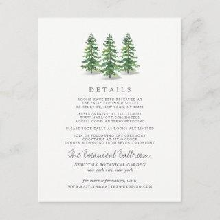 The Watercolor Pine Tree Forest Wedding Collection Enclosure Card