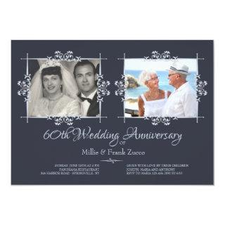 Then and Now Photo Anniversary Invitation