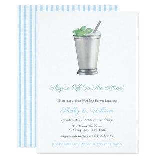 They're Off To The Altar Horse Race Wedding Shower Invitations