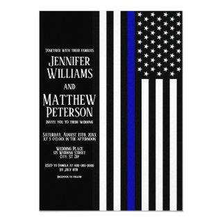 Thin Blue Line Flag Wedding Invitations