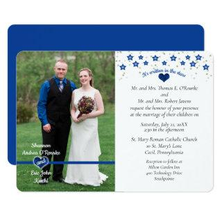 Thin Blue Line It's Written In the Stars Wedding Invitations