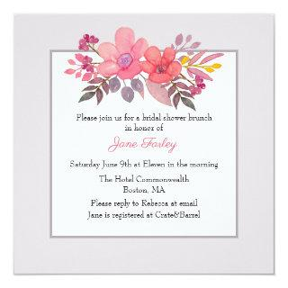 Think Dusty Pinks Bridal Shower Invitation