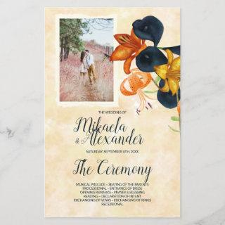 Tiger Lilies Wedding Program