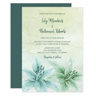 Tiger Lily | Modern Watercolor Floral Wedding Invitation