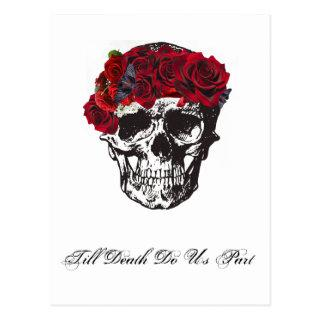 Till Death Do Us Part Red Rose Postcard