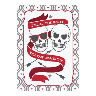 Till Death Do Us Party - Red Wedding Invitations