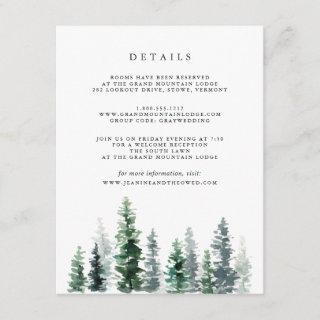 Timber Grove Guest Details Enclosure Card