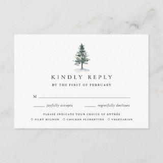 Timber Grove Meal Choice RSVP Card