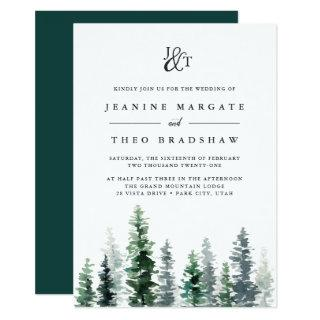 Timber Grove | Monogram Wedding Invitation