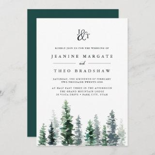 Timber Grove | Monogram Wedding Invitations