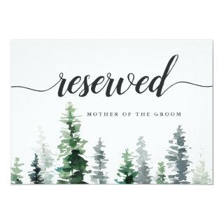 Timber Grove Wedding Reserved Seating Sign Invitations