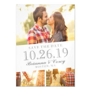 Timeless 3-Photo Save The Date Magnetic Invitation