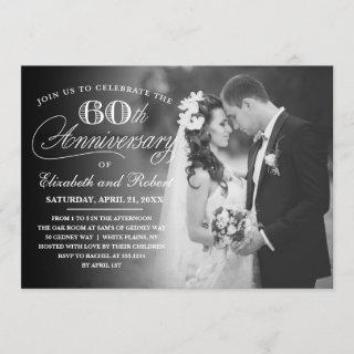 Timeless 60th Anniversary Party Photo Invitations