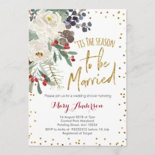 Tis the season to be married Christmas floral