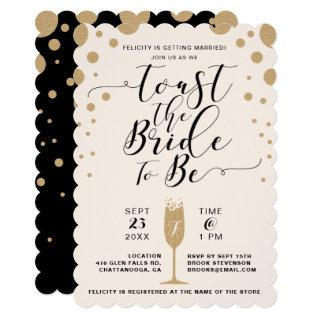 Toast The Bride | Champagne Bubbles Bridal Shower Invitation