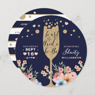 Toast The Bride - Champagne Floral Bridal Shower