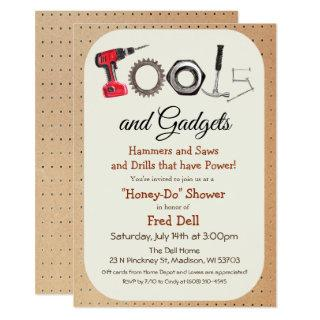 Tools & Gadgets Honey Do Shower Invitation