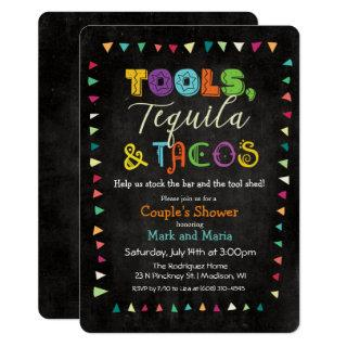 Tools Taco & Tequila Wedding Shower Invitation
