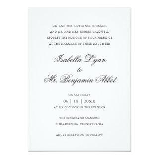 Traditional Calligraphy Names Formal Wedding Invitations