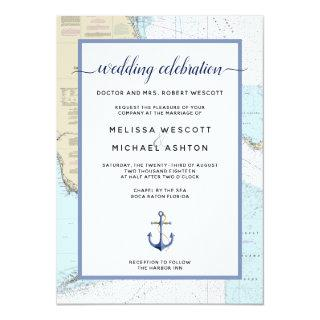 Traditional #Nautical Event / Wedding | #Florida Invitation