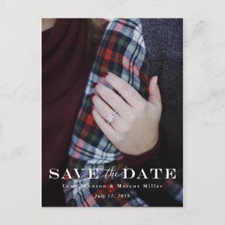 Traditional Save The Date Postcard
