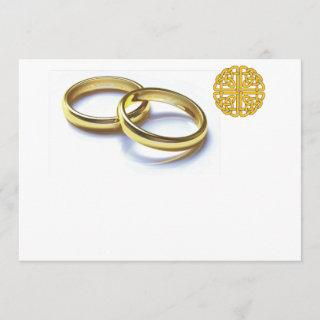Traditional Scottish and Celtic Wedding Ring Theme
