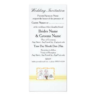 Traditional Scottish and Celtic Wedding Theme Invitation