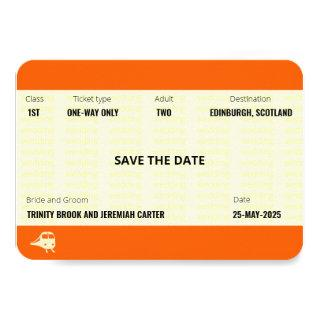 Train Ticket Inspired | Wedding Save the Date Invitation