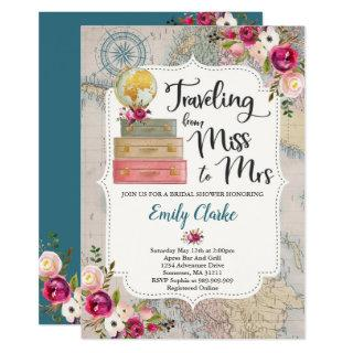 Travel Bridal Shower Invitations Miss To Mrs Shower