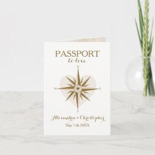 Travel Theme Folded Passport Invitations