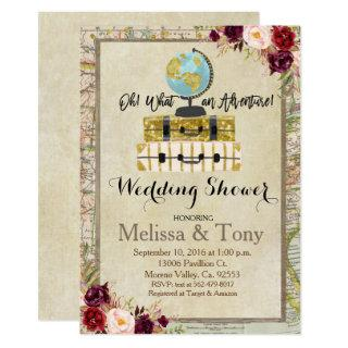 Travel theme Wedding Shower Invitation