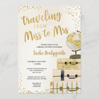 Traveling from Miss to Mrs bridal shower Invitation