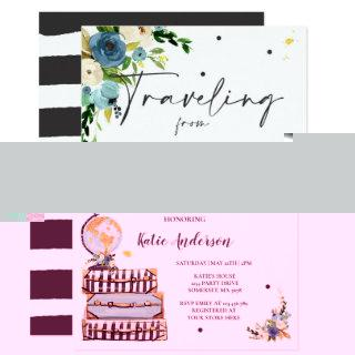 Traveling From Miss to Mrs Bridal Shower Map Bride Invitations