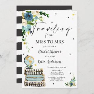 Traveling From Miss to Mrs Bridal Shower Map Bride