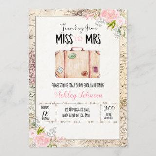 Traveling from miss to mrs Invitations
