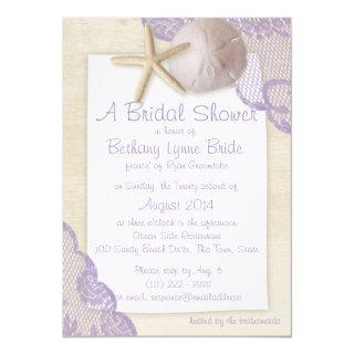Treasured Beach and Lace Bridal Shower Invitations