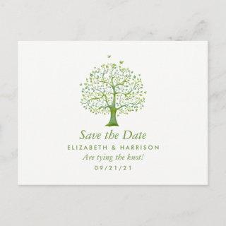 Tree of Life, Elegant Wedding Save the Date Announcement Postcard