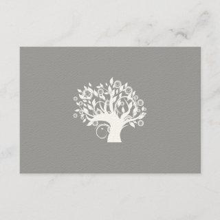 Tree of Life Hebrew Jewish Wedding RSVP Silver