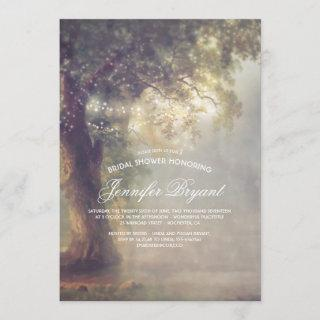 Tree String Lights Rustic Country Bridal Shower Invitations