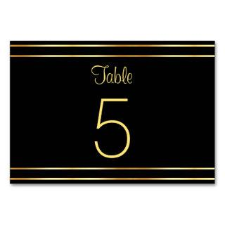 Trendy Black And Gold Modern Glamorous Template Table Number