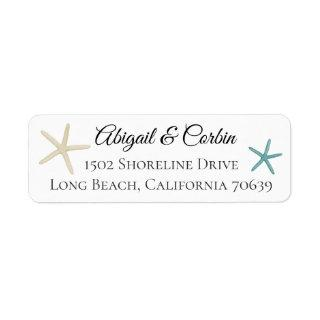 Trendy Chic Starfish Return Address Label
