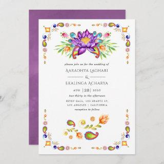 Trendy Floral Paisley Indian Wedding