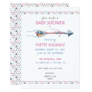 Tribal Watercolor Arrow Feathers Any Occasion Invitation