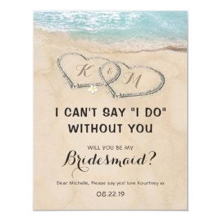 Tropical be my Bridesmaid | Beach Destination Invitation
