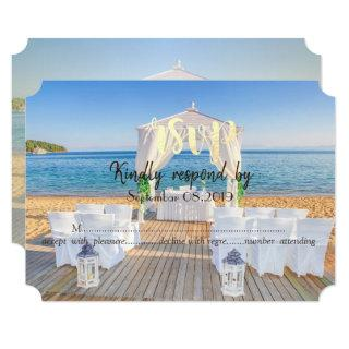Tropical Beach Arbor  RSVP Invitations